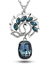 YouBella Gracias Collection Crystal Jewellery Elegant Dancing Peacock Pendant Set / Necklace Set For Girls And...