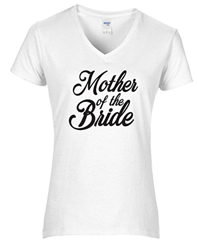 Hippowarehouse Mother Of The Bride Womens V-Neck Short Sleeve t-Shirt (Specific Size Guide In Description)