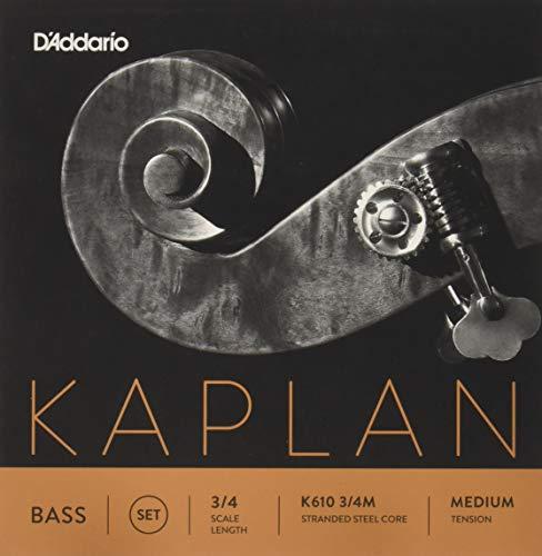 D'Addario KS510-4/4M Kaplan - Muta di corde per violoncello 3/4, con anima in acciaio, tensione: Medium