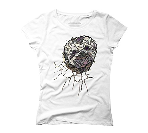 ABSTRACT SLOTH Women's Graphic T-Shirt - Design By Humans White