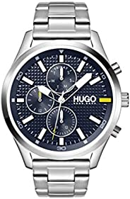 HUGO Men's Analogue Quartz Watch with Stainless Steel Strap 153