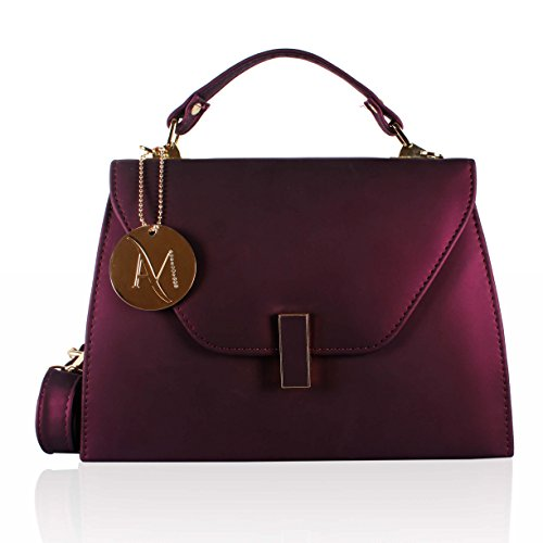 Alan Max Designer Metallic Magenta Sling Bag for Girls/Women
