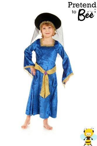 Filles de Marie Tudor Lady historique Déguisements Costumes 5-7 ans [Jouet]