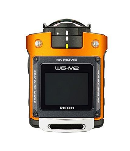 Ricoh WG-M2 kompakte und leichte Actioncam (4K-Video, 204 Grad Ultraweitwinkel-Objektiv) orange - 6