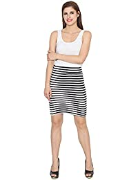 My Swag Women's Mini Stripped Pencil Skirt
