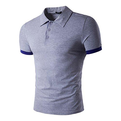 Männer Basic Tägliches T-Shirt für Casual Wear Grau M (Dri-power-polo)