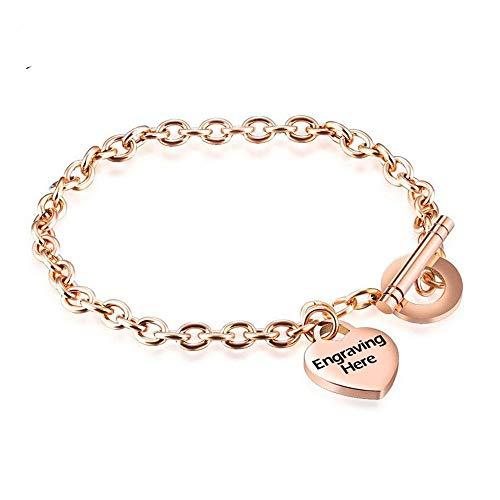 Imagen de zhouyf® pulseras personalized women stainless steel bracelet heart shape party jewelry for women bangles best gift for friend