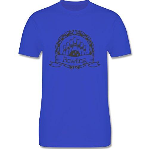 Bowling & Kegeln - Bowling Lorbeerkranz - Herren Premium T-Shirt Royalblau