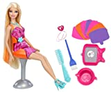 Mattel Barbie X7888 - Farbstyling-Haarsalon, Puppe und Zubehör
