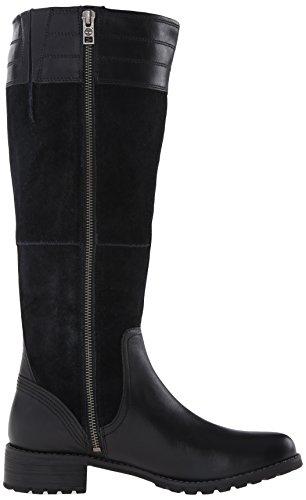 Timberland Bethel Tall Damen Rund Leder Mode-Knie hoch Stiefel Schwarz