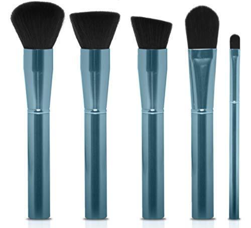 4 spazzole per trucco per tubi in alluminio