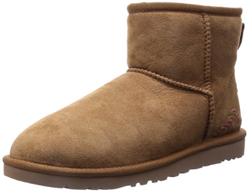 ugg-mini-classic-rustic-weave-scarpe-a-collo-alto-donna-marrone-chestnut-37