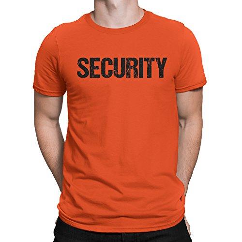 NYC FACTORY T-Shirt für Herren, mit Aufdruck vorne und hinten, Orange - Orange - 3X-Groß