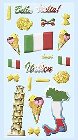 Glace A Italienne - Hobbyfun Softy-Sticker Autocollants Motifs Italie, ardoise Tour