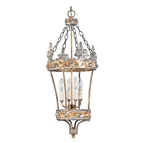 lustre-crown-or-et-argent4-ampoules