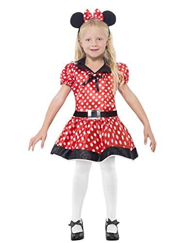 (Mädchen niedlich Miss Minnie Mouse büchertag TV Film Comicfigur 1920's Party Kostüm Kleid Outfit 4-12 Jahre - Rot, 10-12 Years)