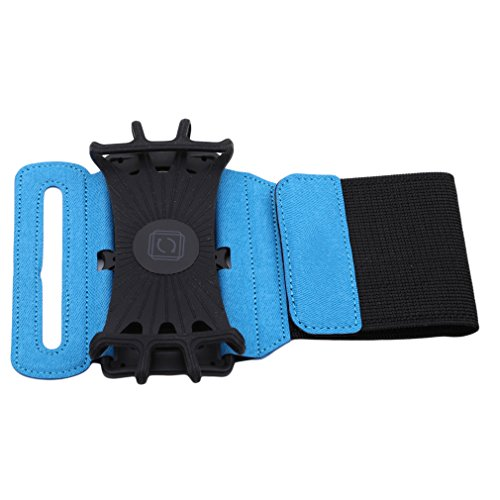 Yinew Sport-Armband, Armband für Herren oder Frauen für Wandern Radfahren Gym Joggen, Fitness-Armband für Mobiltelefone, Nylon, blau, Siehe Produktbeschreibung