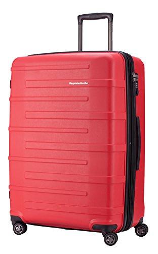 HAUPTSTADTKOFFER - Ostkreuz - Hartschalen-Koffer Koffer Trolley Rollkoffer Reisekoffer, TSA, 77 cm, 126 Liter, Rot
