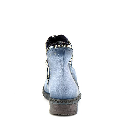Felmini - Chaussures Femme - Tomber en amour avec Beta A230 - Bottines à fermeture éclair - Cuir Véritable - Multicolore Multicolore