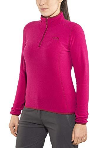 THE NORTH FACE Damen 100 Glacier Pullover Rumba Red/Cerise Pink Stripe L