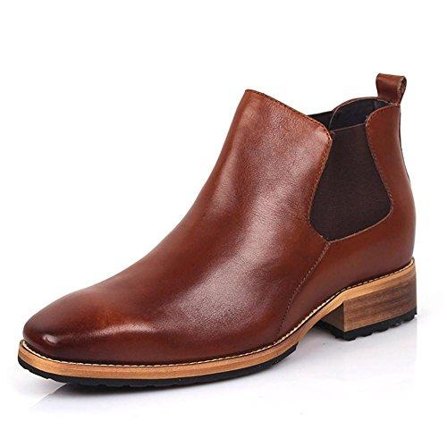 Männer Leder Stiefel Schuhe Geschäft Braun britisch Stil Herbst Winter Freizeit Hochzeit Nike Dunk Himmel Hallo Niedrig Spitz , Brown , 39 (Dunk-mann-schuhe)