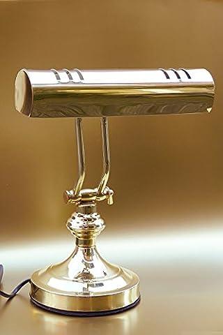 Schreibtischlampe Tischleuchte Tischlampe Messing im Antik Stil H 32 cm