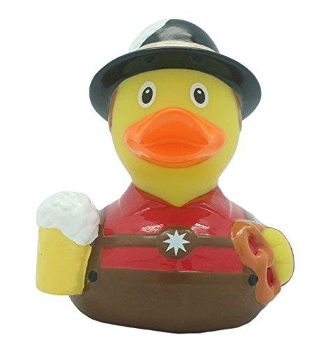 Quietscheente Trachten Mann Ente, Gummiente, Quietscheentchen, Badeente, Quietsch Ente, Sammelfigur, Gummi Bade Spielzeug, LiLaLu, 2038