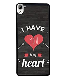 FUSON Designer Back Case Cover for HTC Desire 826 :: HTC Desire 826 Dual Sim (Love Circle Life Long You Always In My Hearts)