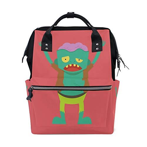 Scary Monster Zombie Cartoon Teufel Große Kapazität Wickeltaschen Mama Rucksack Multi Funktionen Windel Wickeltasche Tote Handtasche Für Kinder Babypflege Reise Täglichen Frauen