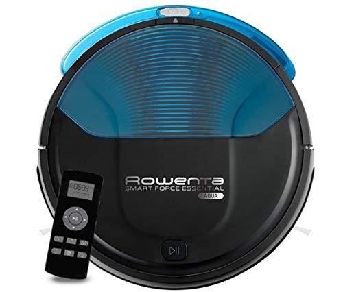 Rowenta Smart Force Essential Aqua RR6971WH - Roboterstaubsauger 2 in 1, Staubsauger und Peelings, mit Fallschutzsensoren, 150-Minuten-Autonomie-Lithium-Ionen-Akku, Fernbedienung und Ladestation