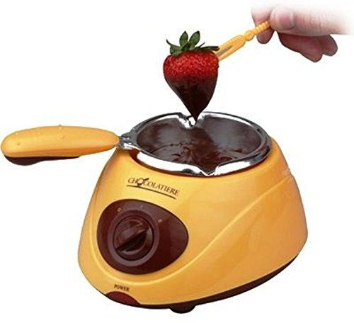 Silicone Bakeware Chocolatiere Electric Chocolate Melting Pot, Yellow
