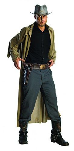 Kostüme Halloween Jonah Hex (Original Jonah Hex Waffengürtel intigrierte Waffe Holster Halloween)