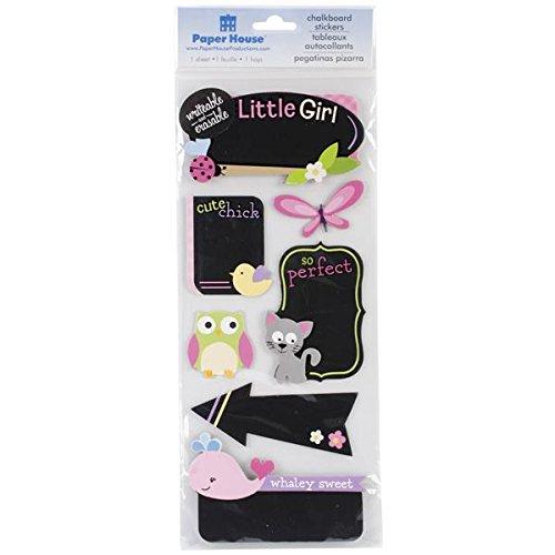 Unbekannt Papier House Baby Girl-Tafel Aufkleber, Acryl, Mehrfarbig - Girls Generation-karten