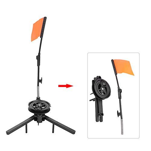 Dioche Eisfischerrute Tip-Ups, Freisprecheinrichtung Compact Metal Fish Pole Orange Flag Angler-Zubehör