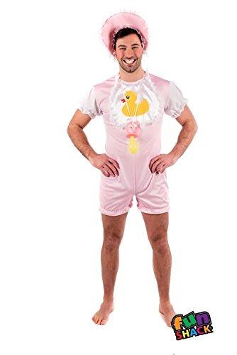 Fun Shack Herren Costume Kostüm Mens Baby Pink ()