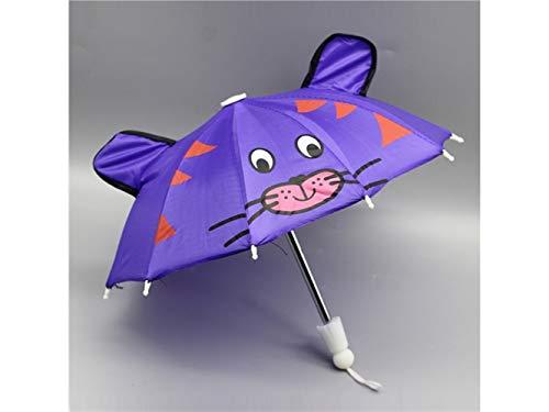 Suministros de muñecas Doll Mini Umbrella Toy, Mouse Pattern Umbrella Accessories para 18 pulgadas American Girl / Baby Born Dolls accesorios hechos a mano de la muñeca Regalo de cumpleaños de niña