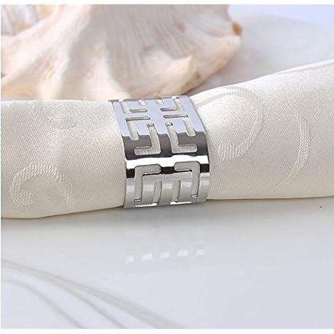 GAW Moda anelli tovagliolo per cene di lavoro, feste di nozze e , B
