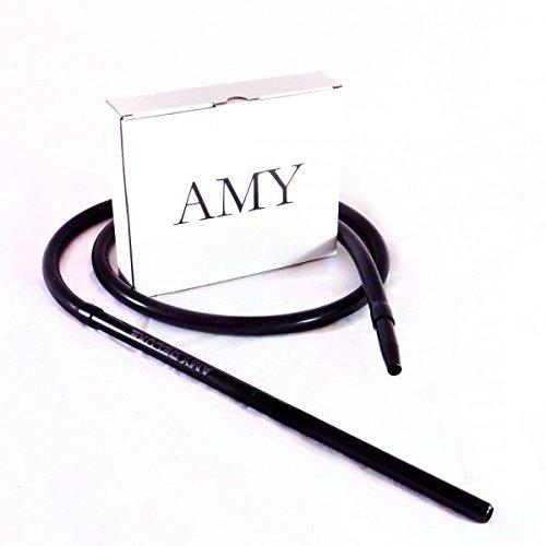 AMY Deluxe Aluminium Silikonschlauch inkl. Mundstück -Schwarz
