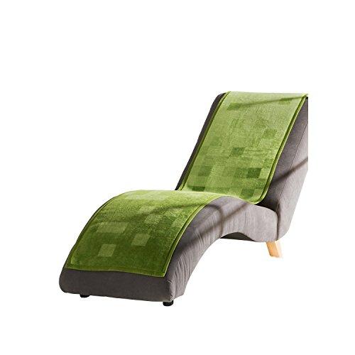 Ibena Sesselschoner Baumwollmischung grün Größe 50x200 cm