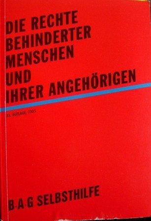 Cover »Die Rechte behinderter Menschen und ihrer Angehörigen«
