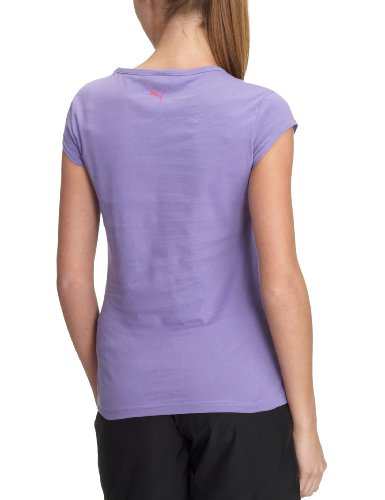 PUMA Damen T-Shirt Cat Line Tee, Organic Cotton dahlia purple
