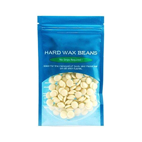 IMHERE W U 50g Haarentfernung Bean Enthaarungsmittel Hartwachs Lavendel Grüner Tee Honig riechen Bohnen Pellet Waxing Bikini (Grüne Bohnen W)