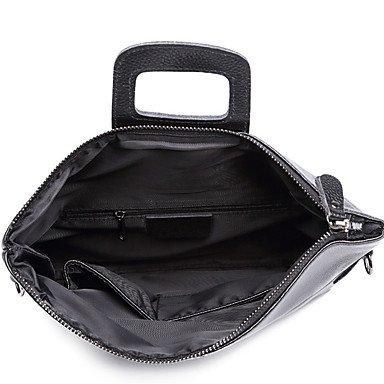 YJIUX Donne Borsa a Tracolla Vacchetta All Seasons Casual Baguette Zipper nero,Nero Black