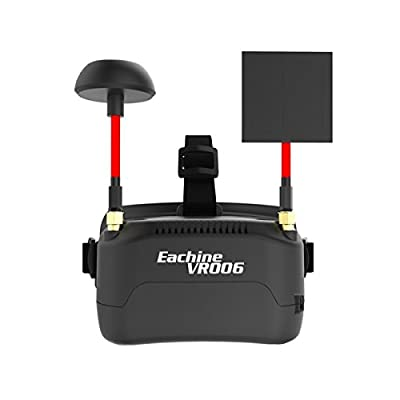 Eachine VR006 Mini FPV Goggles Headset VR-006 3inch 500*300 Display 5.8G 40CH Build in 3.7V 500mAh Battery for RC Racing Drone Quadcopters by HankerMall
