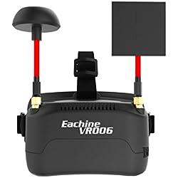 Eachine VR006 Mini Gafas FPV Auriculares VR-006 3 pulgadas 500 * 300 Pantalla 5.8G 40CH Construir en 3.7V 500mAh Batería para RC Racing Drone Quadcopters