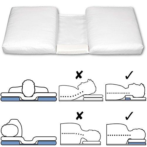 ERGONOMISCHER KISSEN-BOOSTER paltzieren Sie ihn unter Ihrem Kopfkissen um den Schlafkomfort zu verbessern und Nacken-/Schulterschmerzen zu reduzieren. Bietet zervikale und orthopädische Unterstützung