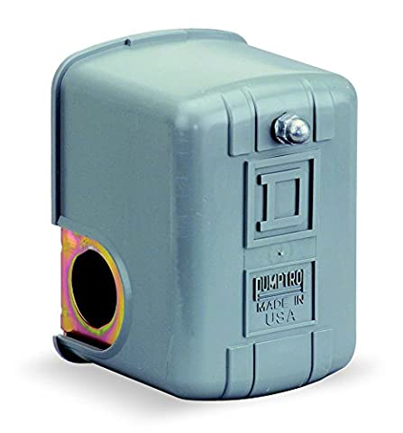 Square D by Schneider Electric 9013FRG23J23 Air-Pump Pressure Switch, NEMA 1, 40-20 psi Pressure Setting, 4-25 psi Cut-Out, 6-20 psi Reverse-Acting Adjustable