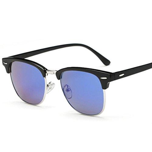 Damen Herren Mirrored Sonnenbrille,Ronamick Kunststoff Brillen Draussen Sunglasses (E)