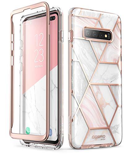 i-Blason Hülle für Samsung Galaxy S10+ Plus Handyhülle Glitzer Case Bumper Robust Schutzhülle Glänzend Cover [Cosmo] OHNE Displayschutz 2019 Ausgabe (Marmor)