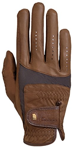 Roeckl Sports Handschuh -Memphis- Unisex Reithandschuhe Nappa Schafsleder, Braun Größe 8